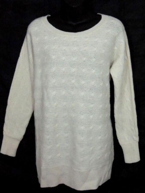 ca1bbb80d3b1 Ralph Lauren Cable Knit Wool Rabbit Boat Neck Tunic Sweater Jumper ...