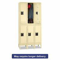 Tennsco Double Tier Locker With Legs, Triple Stack, 36w X 18d - Tnndts1218363sd on sale