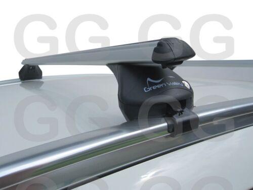 Aluminium Aero Roof Rack Rail Bars Lockable Audi A6 Avant Estate 2005-2011