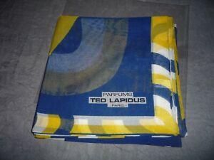 FOULARD CARRE   TED LAPIDUS NEUF