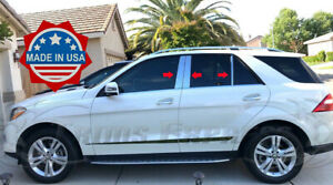 2012-2019-Mercedes-Benz-ML-GLE-W166-6Pc-Chrome-Pillar-Post-ML63-Trim-AMG