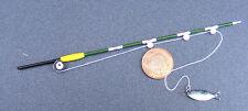1:12 Scale Wood Fishing Rod (Pole) & Fish Dolls House Miniature Garden Accessory
