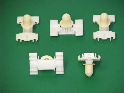 5 x Pince clips BAGUETTE MOULURE parenthèse avec tulles pour bmw e36 e46 NEUF