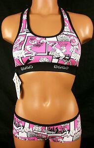 f3daca776c Gigo Womens Basketball Player Sports Bra   Boy Short Set Pink Large ...
