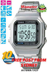 AUSSIE-SELLER-CASIO-GENTS-VINTAGE-RETRO-A178WA-1A-BRAND-NEW-amp-GENUINE-WARRANTY