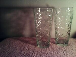 ANCHOR CRINKLE MILIANO LIDO TALL GLASSESS LIQUOR GLASS WINE CHAMPAGNE