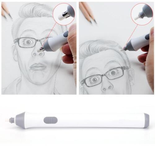 1Satz Handliche Elektrische Batteriebetriebene Radiergummi Gummi Out Pen+Refills