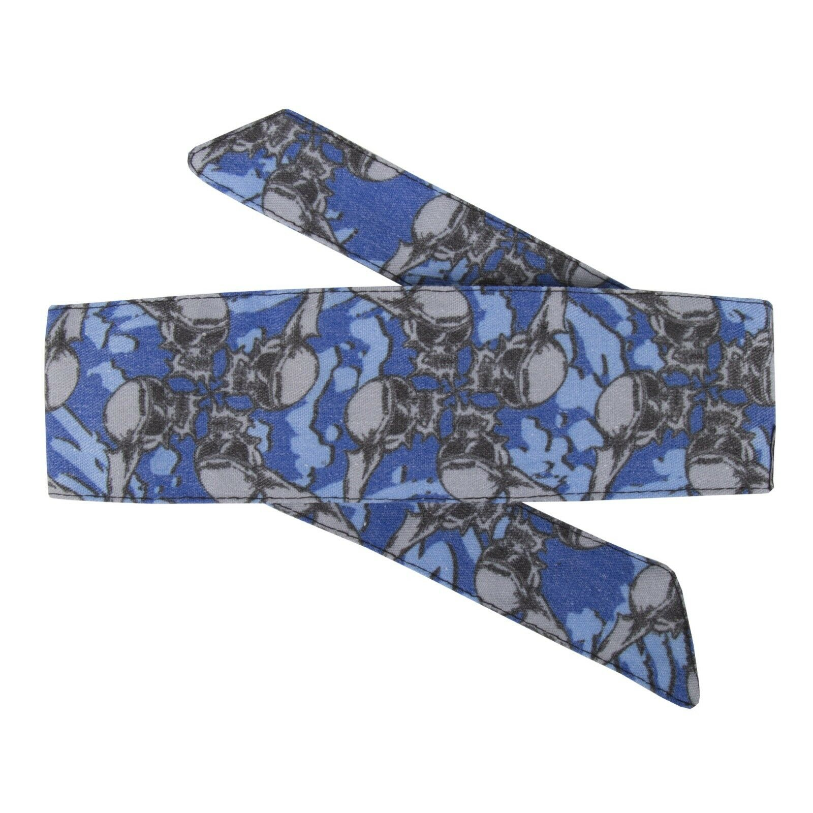 New HK Army Paintball Hostilewear Headband Head Band - Skulls bluee