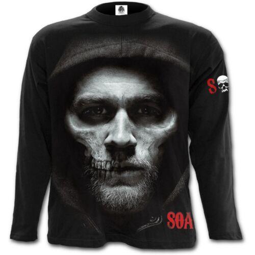 SPIRAL Sons of Anarchy JAX SKULL Long Sleeve T-Shirt SOA//Biker//Rock//Metal//Rock