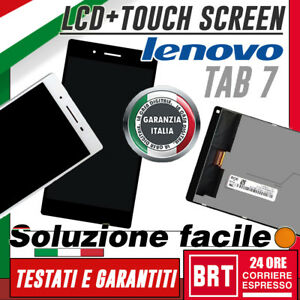 DISPLAY-LCD-TOUCH-SCREEN-LENOVO-TAB-7-TB-7504X-7504N-SCHERMO-VETRO-NERO-TOP-24H