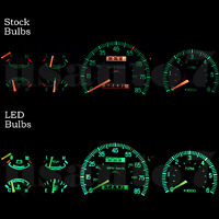 Dash Instrument Cluster Gauge Green Led Lights Kit Fits 87-91 Ford F150 F250