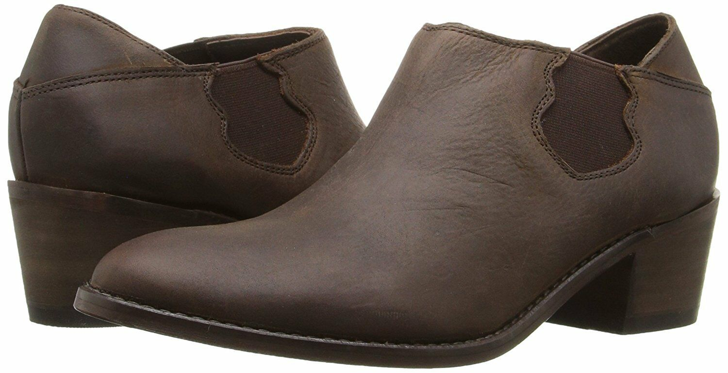 NEW Wolverine Womens Alice Slip On Leather Boots Shoes, Brown, US 7.5 Runs small