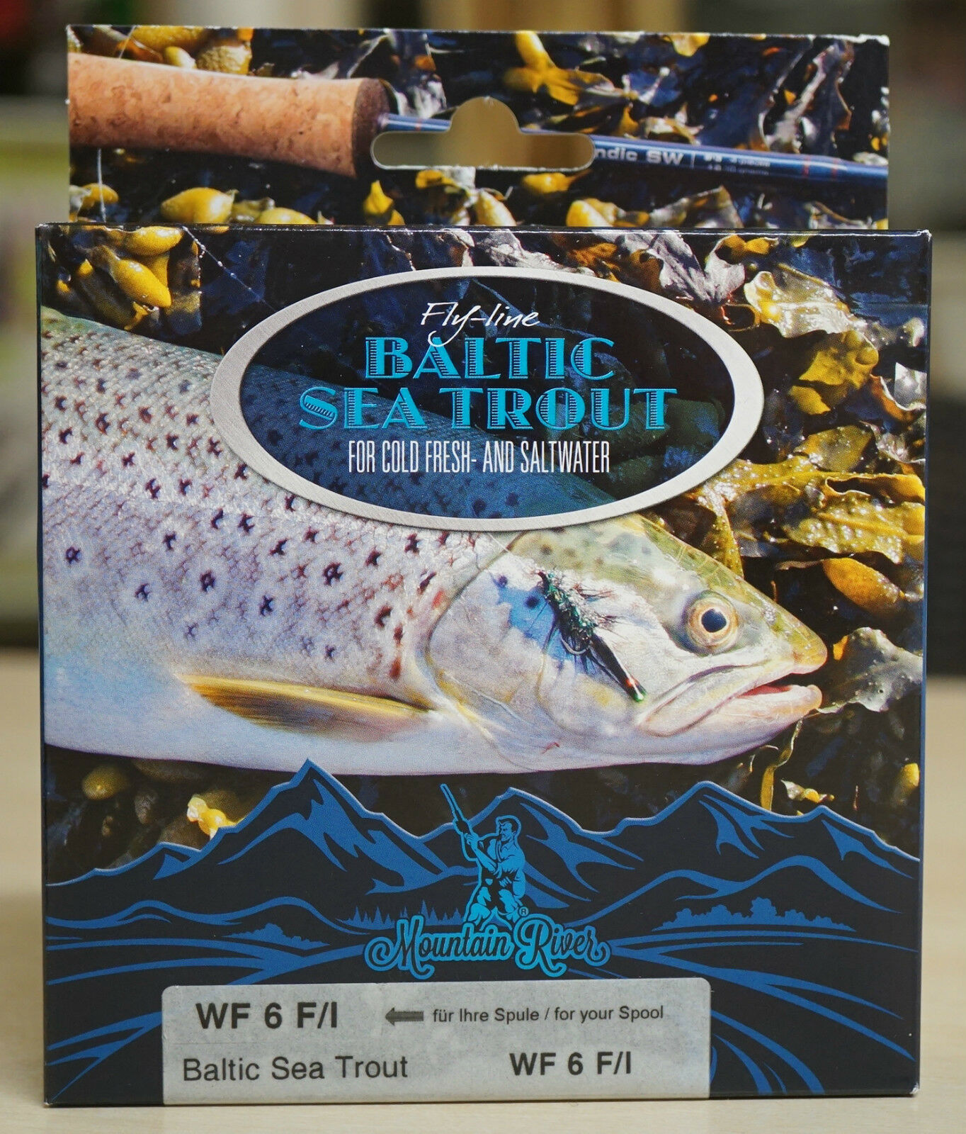 Baltic Sea Trout WF 6 F I lange intermediate Spitze & Cold Water Coating 16 Gr.