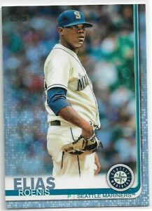 2019 Topps Series 2 Roenis Elias Father's Day Blue Parallel #'d 49/50 Mariners