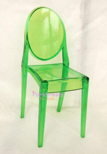 1//6 Scale Dollhouse Miniature Furniture Green Transparent Chair One Piece SL024E