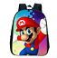 New 12 Inch Cartoon Mario Printing Girls Boys School Backpack Kids Gift Book Bag