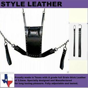 Genuine-Heavy-Duty-Leather-Sex-Swing-Sling-Adult-Play-Room-Fun-Sw-002