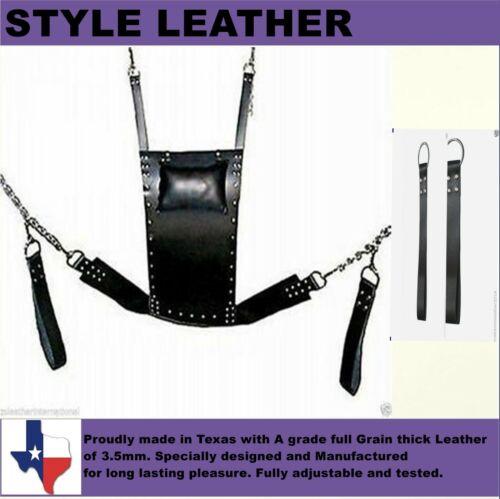 Genuine Heavy Duty Leather Sex Swing Sling Adult Play Room Fun Sw 002