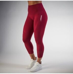 b45bede63e3b3 Image is loading Gym-Shark-seamless-legging-Xsmall-Cranberry-color-red
