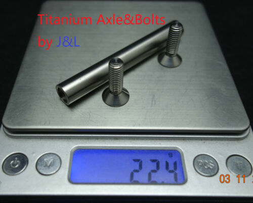 Ti Bolts-for Brompton-22g J/&L Titanium//Ti Rear Triangle Pivot Hinge Axle