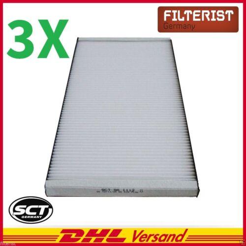 3x dell/'Abitacolo Filtro Polline Filtro Per AUDI a6 AUDI a6 Avant con clima
