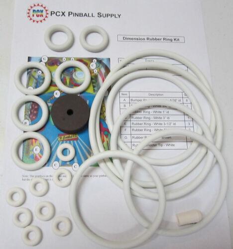 1971 Gottlieb Dimension Pinball Machine Rubber Ring Kit