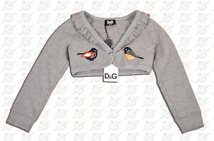 BRAND NEW DOLCE AND GABBANA TODDLERS CROP SWEATER SIZE 3T MADE IN ITALY