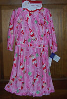 Elf On The Shelf Long Flannel Nightgown Toddler Girls Size 3t Plus Doll Gown