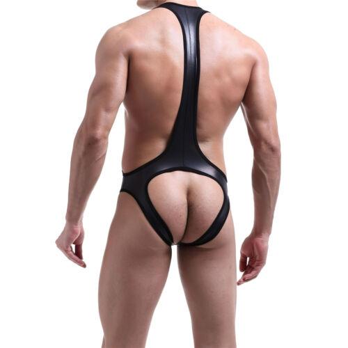 Men/'s Mankini Bodysuit Backless Jockstrap Underwear Leotard Wrestling Singlet