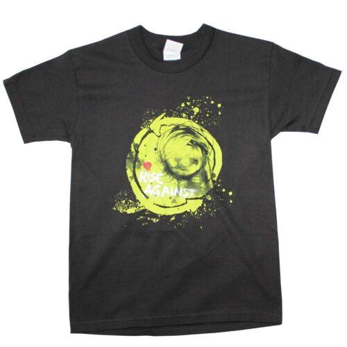 100/% Cotton Details about  /Rise Against Punk Band Black T-shirt Youth Size Medium