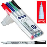 Staedtler Lumocolor Non-permanent Markers 311wp4, 0.4mm Superfine, 4 Color Set