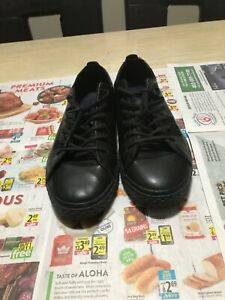 zara man leather lace-up shoes size 11