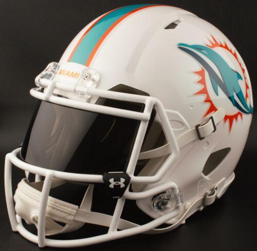 b481a9bc4 2 of 5 MIAMI DOLPHINS NFL Football Helmet with BLACK-TINT Visor   Eye Shield