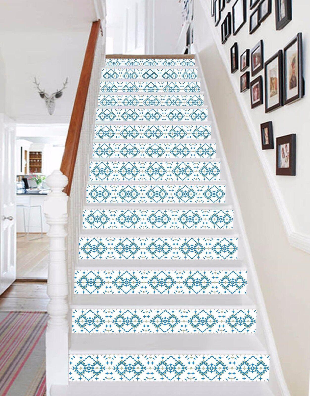 3D Schöne Muster 05 Stair Risers Dekoration Fototapete Vinyl Aufkleber Tapete DE