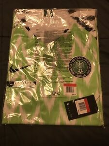 various colors eed72 03f6e Details about 2018 Nike Nigeria Mens Home Soccer Jersey Kit 893886-100  WORLD CUP L Large Naija