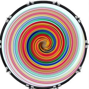 aquarian 22 kick bass drum head graphical image front skin spiral 1 ebay. Black Bedroom Furniture Sets. Home Design Ideas
