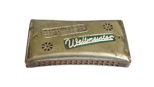 VINTAGE GERMAN WELTMEISTER HARMONICA MOUTH MUSICAL INSTRUMENT