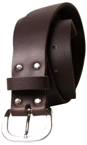 FRONHOFER Classic men/'s belt steel D-ring buckle black full-grain leather