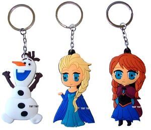 principesse Anna & Elsa,Olaf Frozen portachiavi,ci<wbr/>ondolo,per borsa zaino PVC