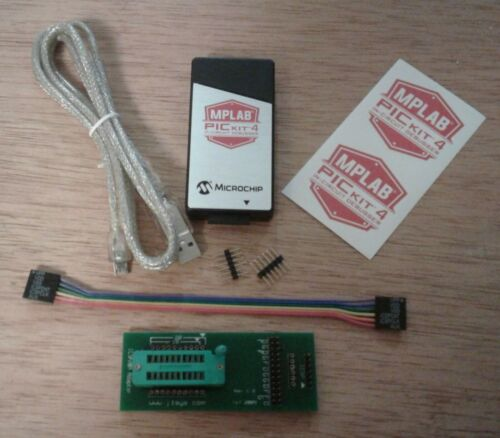 ICSP Adapter ZIF 18//20A w// Authentic PICkit 4 USB Programmer
