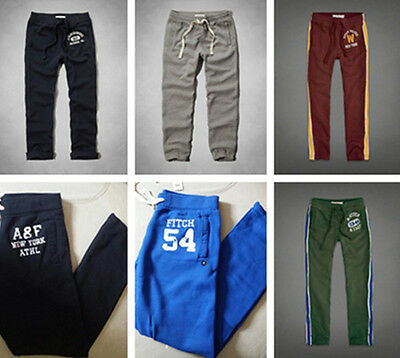 2014 NWT ABERCROMBIE & FITCH BY HOLLISTER MEN'S CLASSIC SWEATPANTS
