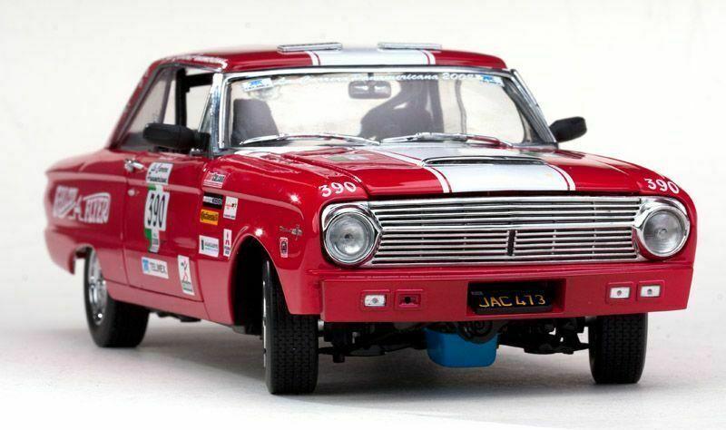 FORD FALCON RACING  390 autoRERA PANAMERICA 1963 JON LEautoNER rosso SUNestrella 4552