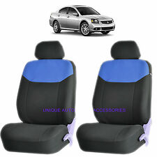 BLUE ELEGANT AIRBAG COMPATIBLE FRONT SEAT COVERS for MITSUBISHI GALANT ECLIPSE
