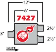 Cherry Bomb Extreme Muffler 7427cb 4 Inch X 9 34 Inch Oval Centerdual New