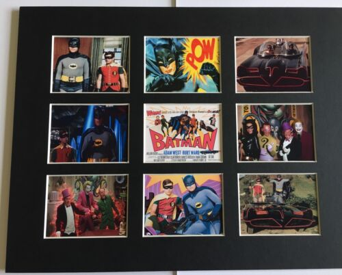 """60/'s BATMAN TV SHOW ADAM WEST RETRO 14/"""" BY 11/"""" PICTURE MOUNTED READY TO FRAME"""