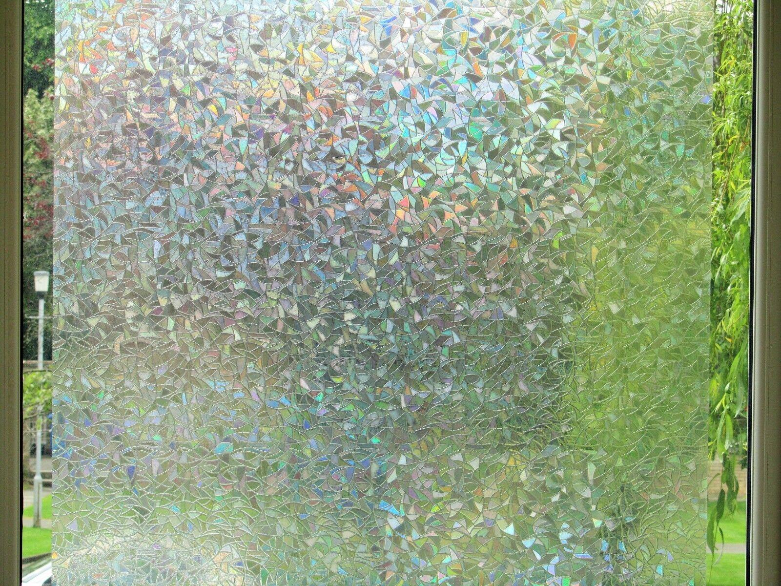 Premium 3D riflettenti decorative vetro inciso Vinile Smerigliato Privacy Pellicola Finestra
