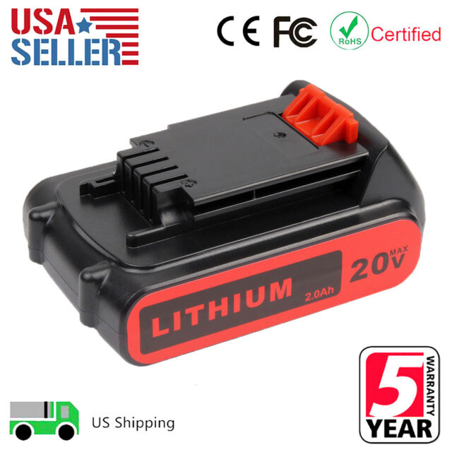NEW GENUINE Black /& Decker 20V Lithium Ion Battery LBXR20 OEM