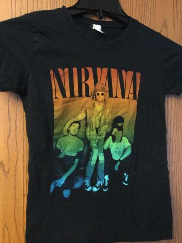 Nirvana.  Black Shirt.    Faded Tag.