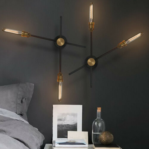 Industrial Wrought Iron Rotating Wall Light Aisle Stair Wall Lamp Bedside Sconce