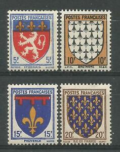 FRANCE-Timbre-YT-n-572-a-575-neufs-luxe-1943